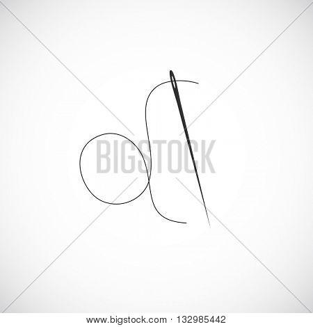 needle icon sewing - design