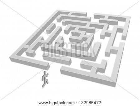 running man with maze 3d - concept