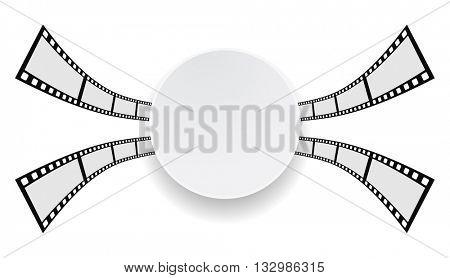 film strip round paper banner design