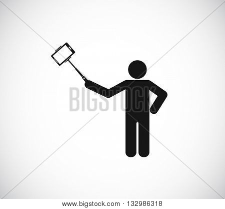 person selfie with monopod icon