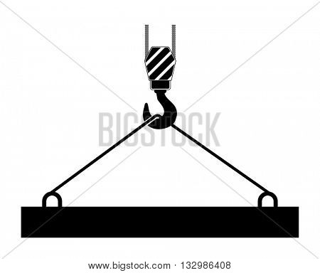 crane icon hook with construction lifting
