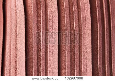 Pink Pastel Colour Abstract Texture Background Of Pleat Or Gather A Fabric In Folds Cloth