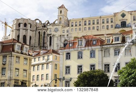 Urban landscape, architecture in Lisbon, Portugal capital city