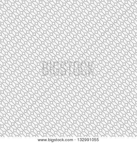 Geometrical seamless pattern. Stylish modern texture. Infinitely repeating small textured ornament consisting of small dots dotted rhombuses and lines. Vector abstract seamless background. Contemporary design
