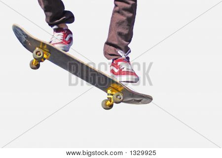 Skateboarder Do'In An Ollie