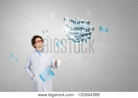 Doctor with mug in hand