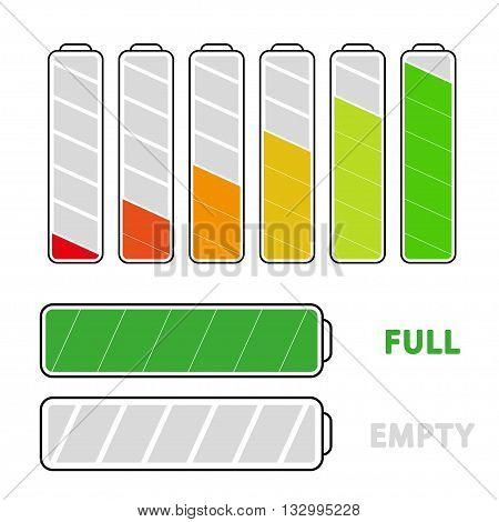 Battery load illustration isolated on white background, vector illustration