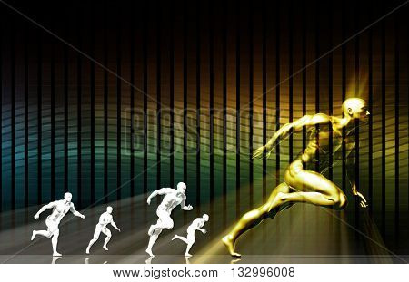 Sports Management and Coaching Science as a Career 3d Illustration Render