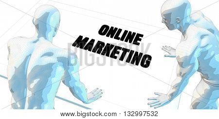 Online Marketing Discussion and Business Meeting Concept Art 3d Illustration Render