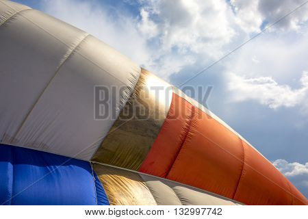 Detail Of A Colorful Hot Air Balloon