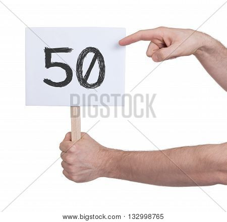 Sign With A Number, 50
