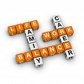 Постер, плакат: Работа и жизнь баланс
