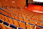 stock photo of stage theater  - the interior of a theater the seats and the stage - JPG