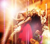 pic of night-club  - People dancing in the night club - JPG