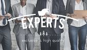 Постер, плакат: Experts Ability Excellence Insight Intelligence Concept