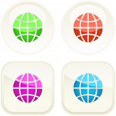 stock photo of world-globe  - World button set - JPG