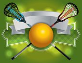 Lacrosse Emblem And Banner Illustration poster