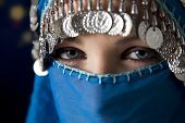 stock photo of burka  - middle eastern culture - JPG