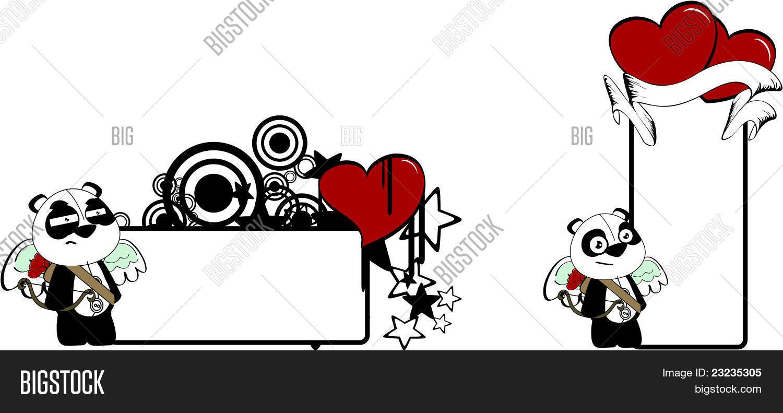 Vectores Y Fotos En Stock De Oso Panda Cupido Dibujos