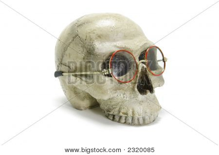 Skull With Eyeglasses