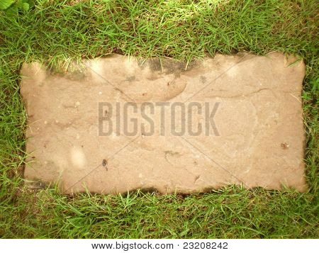 Rock Plate on Grass