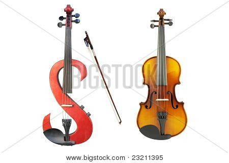 Electric Violin, Violin And A Fiddlestick