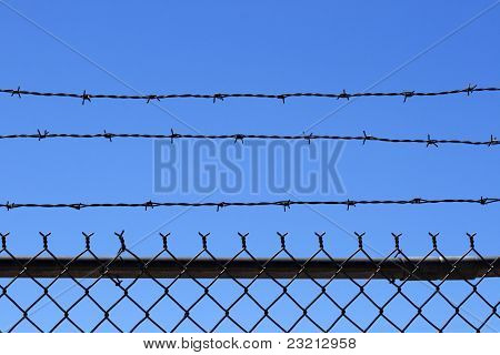 Barb Wire Fence Top
