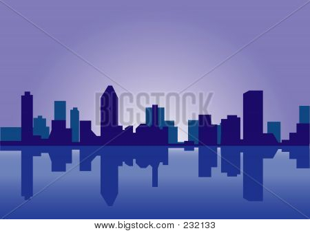 poster of City Skyline Reflection