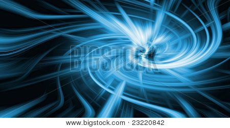 Blue And Black Attractor