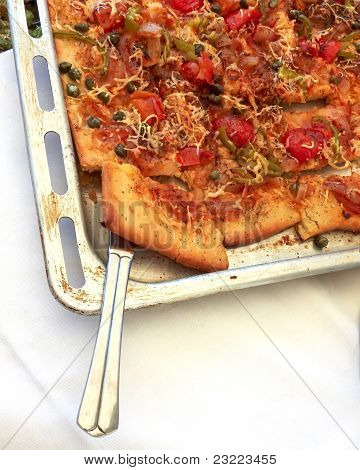 Home Made Vegetarian Pizza