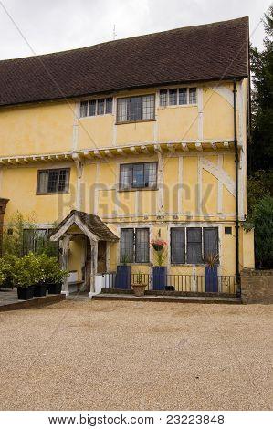 Yellow Tudor house, Henley-On-Thames