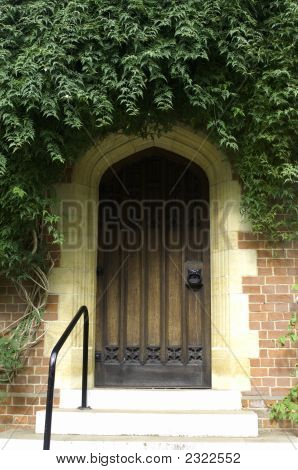 University Of Cambridge, St Edmund'S College, Doorway To Chapel