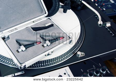 Professional Equipment Of A Dj