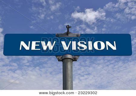 Novo sinal de trânsito de visão