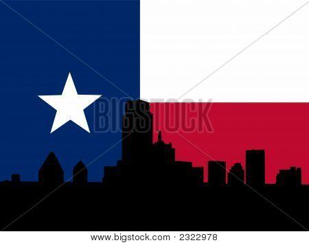 Dallas With Texan Flag