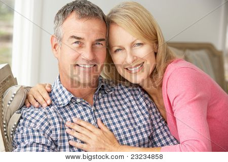 Mid age couple at home