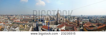 Panoramic View Of Milan, Italy