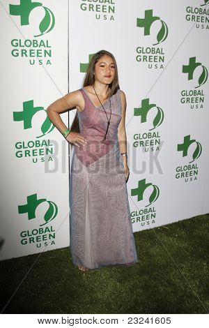 LOS ANGELES - MAR 3: Q'Orianka Kilcher at the Global Green USA 7th Annual Pre-Oscar Party 'Greener Cities for a cooler Planet at Avalon in Los Angeles, California on March 3, 2010