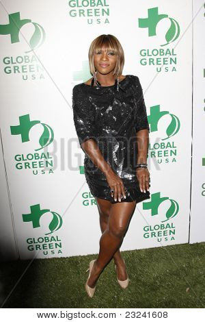 LOS ANGELES - MAR 3: Serena Williams at the Global Green USA 7th Annual Pre-Oscar Party 'Greener Cities for a cooler Planet at Avalon in Los Angeles, California on March 3, 2010