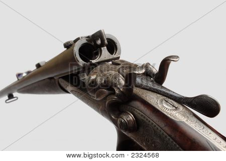 Old Double-Barreled Gun