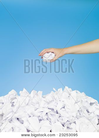 Hand With Paper