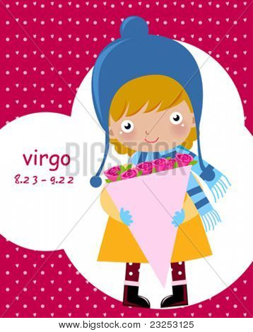 Zodiac-illustration of a girl-virgo