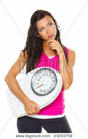 Woman is dissatisfied with body weight