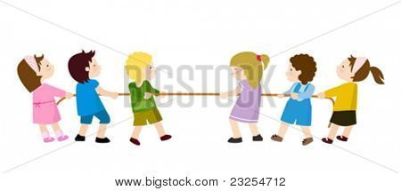 Kids Playing - Tug of War