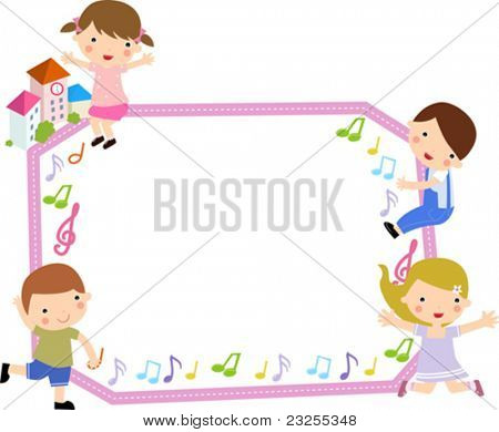 kids and frame,music