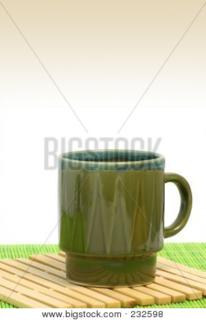Green Coffee Cup Vertical