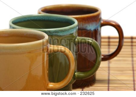 Three Coffee Cups Horizontal