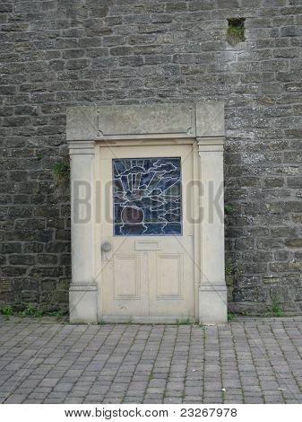 Puerta en el arte de la pared instalación