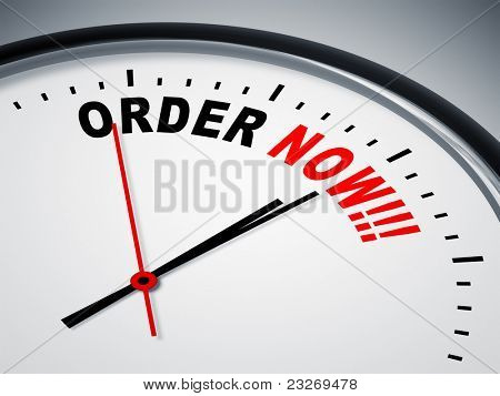 An image of a nice clock with order now