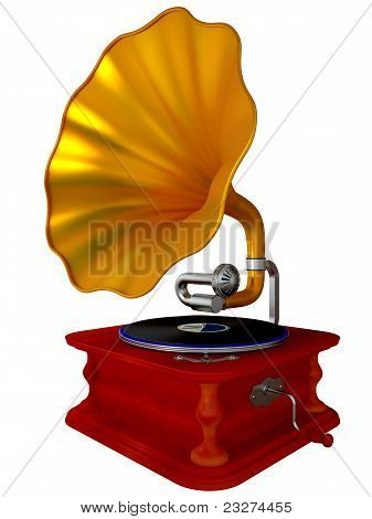 Ancient Antiquarian Gramophone